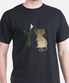 Cute Mouse and Calla lily T-Shirt