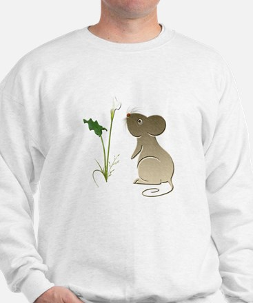 Cute Mouse and Calla lily Sweatshirt
