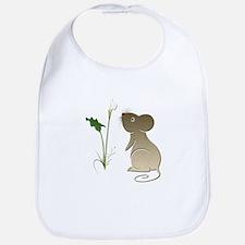 Cute Mouse and Calla lily Bib