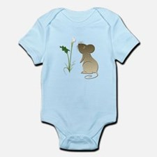 Cute Mouse and Calla lily Infant Bodysuit
