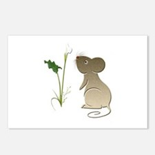 Cute Mouse and Calla lily Postcards (Package of 8)