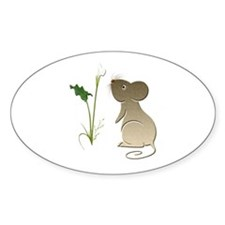 Cute Mouse and Calla lily Decal