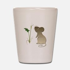 Cute Mouse and Calla lily Shot Glass