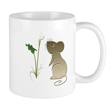 Cute Mouse and Calla lily Mug
