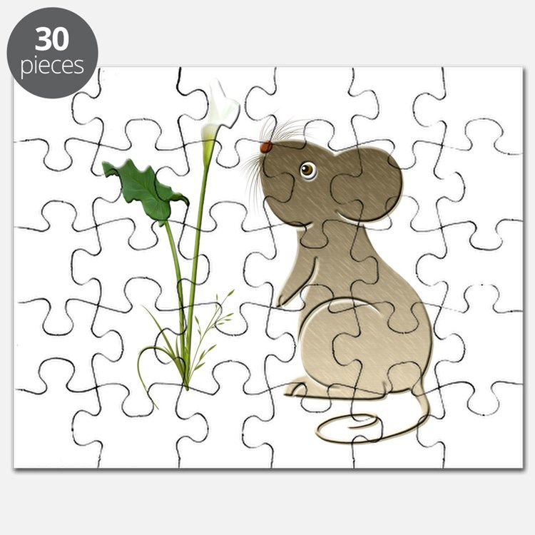Cute Mouse and Calla lily Puzzle