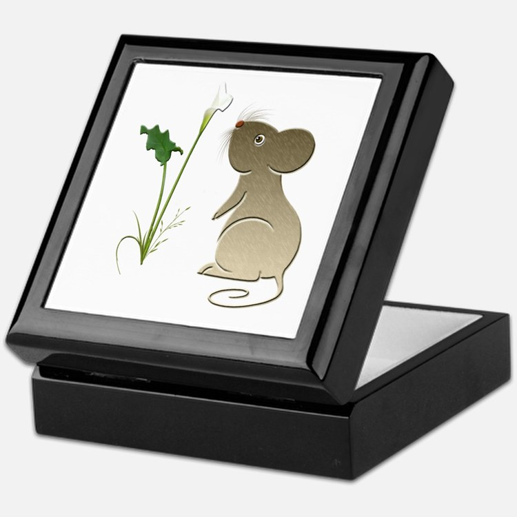 Cute Mouse and Calla lily Keepsake Box