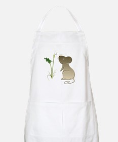 Cute Mouse and Calla lily Apron