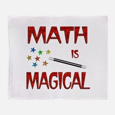 Math is Magical Throw Blanket