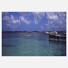 Boats in the sea, Simpson Bay, Sint Maarten, Nethe