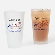 Cyclist Dad Drinking Glass