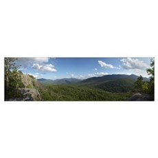Clouds over a mountain range, Adirondack Mountains Poster