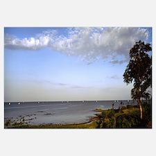 Clouds over a lake, Lake Victoria, Kenya