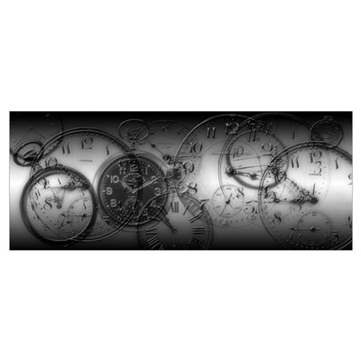 Montage of old pocket watches Poster