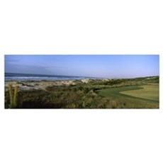 Golf course at the seaside, Kiawah Island Golf Res Poster