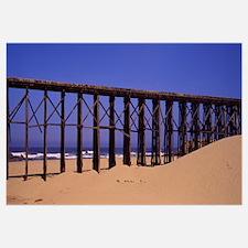 Footbridge on the beach, Pudding Creek Bridge, For