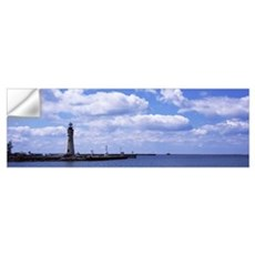 Lighthouse at a harbor, Buffalo Harbor North And S Wall Decal