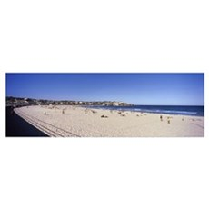 Tourists on the beach, Bondi Beach, Sydney, New So Poster