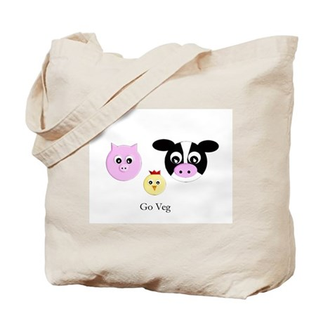 Farm Trio - Go Veg Tote Bag