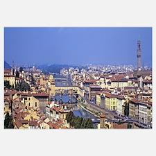Cityscape, Ponte Vecchio, Arno River, Florence, Tu