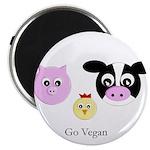 Farm Trio - Go Vegan Magnet