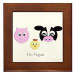 Farm Trio - Go Vegan Framed Tile