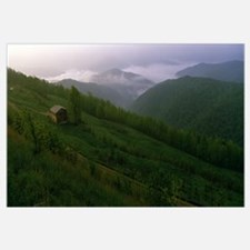 High angle view of a cabin on a mountain, Buffalo