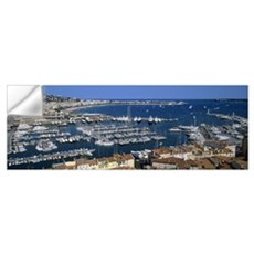 High angle view of a harbor, Cannes, Provence Alpe Wall Decal