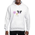 Farm Trio - Go Vegan Hooded Sweatshirt
