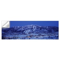 Tourists at a ski resort, Mt Werner, Steamboat Spr Wall Decal
