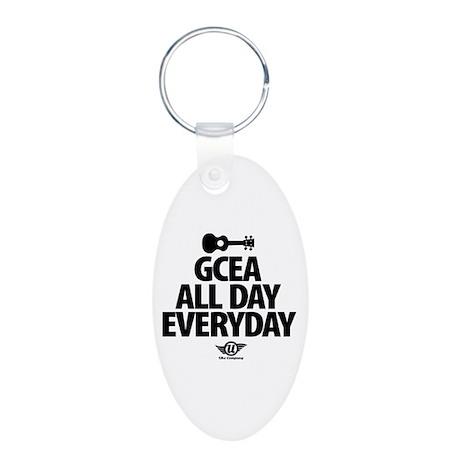 GCEA All Day Everyday! Aluminum Oval Keychain