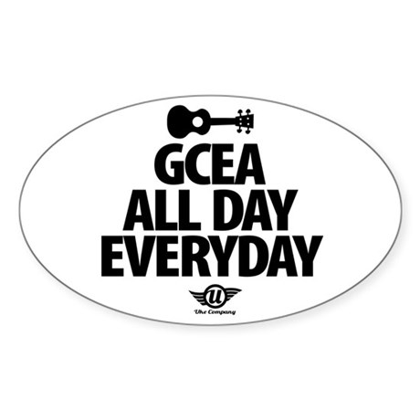GCEA All Day Everyday! Sticker (Oval)