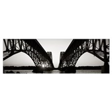 South Grand Island Bridges Niagara River Grand Isl Framed Print