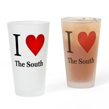 I Love the South Drinking Glass