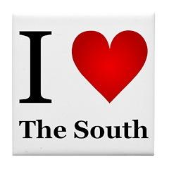 I Love the South Tile Coaster