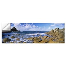 Rocks in the sea Armed Knight Lands End Cornwall E Wall Decal