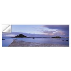 Silhouette of a church in the sea St. Michaels Mou Wall Decal