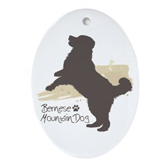 Bernese Mountain Dog Ornament (Oval)