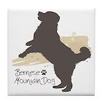 Bernese Mountain Dog Tile Coaster