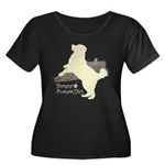Bernese Mountain Dog Women's Plus Size Scoop Neck