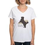 Bernese Mountain Dog Women's V-Neck T-Shirt