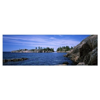 Rock formations at the lakeside North Shore Lake S Canvas Art