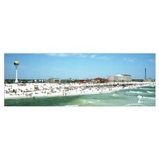 Tourists on the beach Pensacola Escambia County Fl Poster