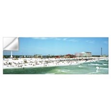Tourists on the beach Pensacola Escambia County Fl Wall Decal