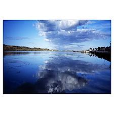 Clouds over the ocean Stanley Harbor Falkland Isla
