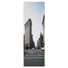 Low angle view of an office building Flatiron Buil Poster