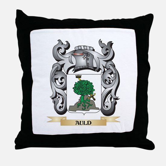 Auld Family Crest - Auld Coat of Arms Throw Pillow