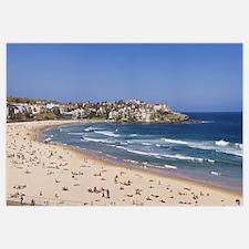 Tourists on the beach Bondi Beach Sydney New South