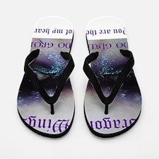 Funny Amethyst Flip Flops