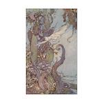 Dulac's Little Mermaid Rectangle Sticker
