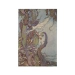 Dulac's Little Mermaid Rectangle Magnet (10 pack)